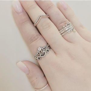 pandora shimmering wish ring